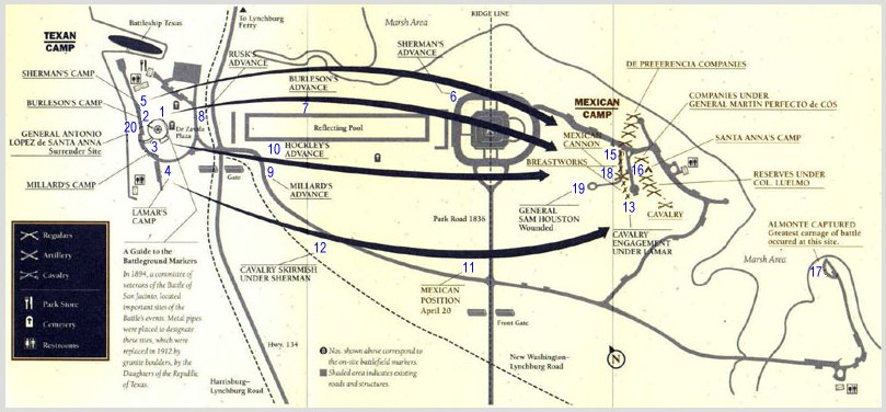 Battle Of San Jacinto - Battle of san jacinto map us